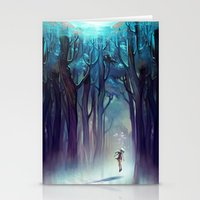 silent Stationery Cards featuring AquaForest by loish