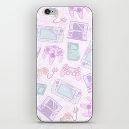 Gamer Girl Pattern iPhone Skin