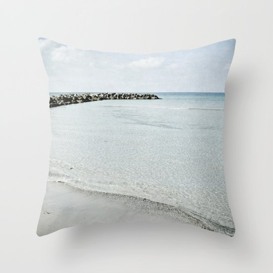 sea square IX Throw Pillow