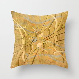 string theory. 2019. golden Throw Pillow