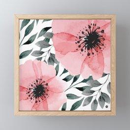 Big Watercolor Flowers Framed Mini Art Print