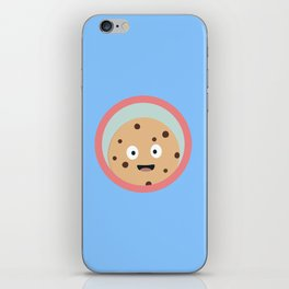 chocolate cookie with red circle iPhone Skin