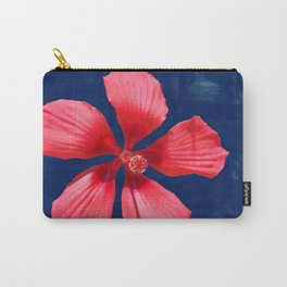 Hibiscus on Blue Carry-All Pouch
