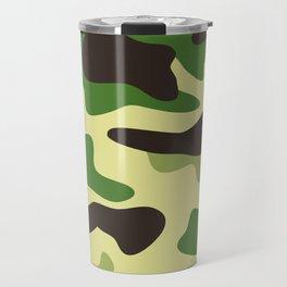 Khaki camouflage pattern Travel Mug