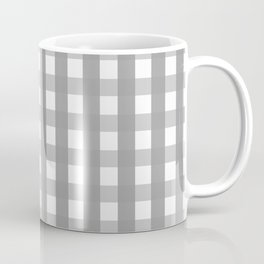 Gray Checkerboard Gingham Coffee Mug