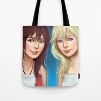 kingdom hearts Tote Bags featuring Kingdom Twins by MW Illustration