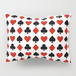 Card Suits Pillow Sham