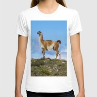 chile T-shirts featuring A Guanoco, in Patagonia, Chile. by davehare