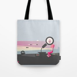 Melting the Wood with Sunset Thoughts Tote Bag