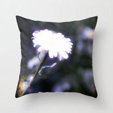 Blue Daisy Throw Pillow