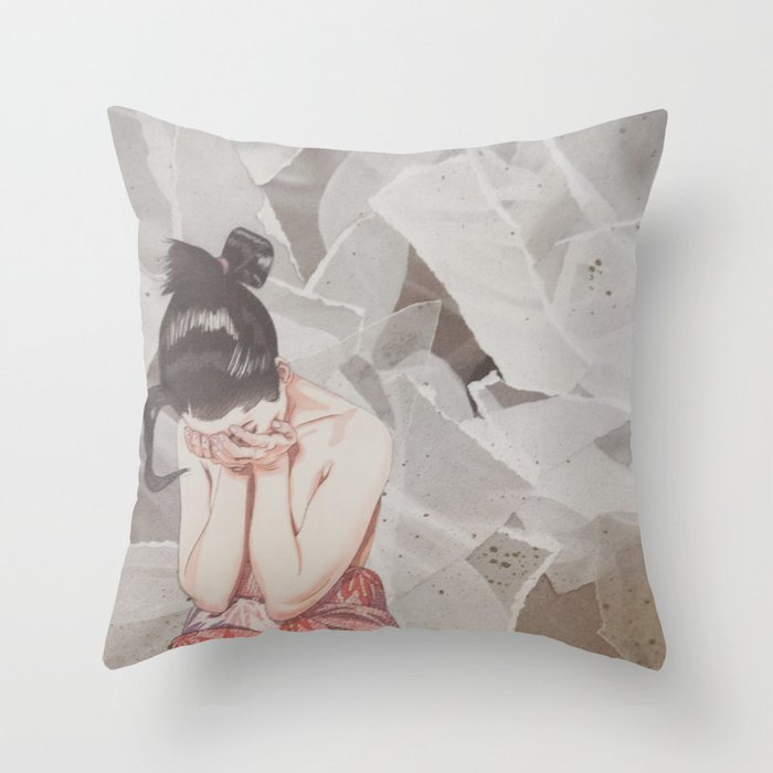 Composition IV: It's okay not to be okay Throw Pillow