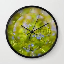 Veronica chamaedrys blue flowers Wall Clock