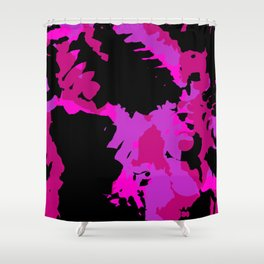 Fuchsia and black abstract Shower Curtain