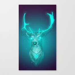 Neon Deer Canvas Print