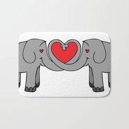Elephant Heart Bath Mat