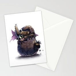 New Born Toothless  Stationery Cards