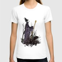 maleficent T-shirts featuring Maleficent by Louise Hubbard