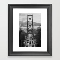 Lion's Gate Bridge  Framed Art Print