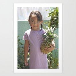 Pineapple girl Art Print