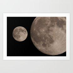 moon 2014 Art Print