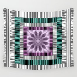 Colorful stripe design . Wall Tapestry