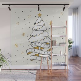 Merry Christmas To You Wall Mural