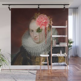 Floral distortion Wall Mural