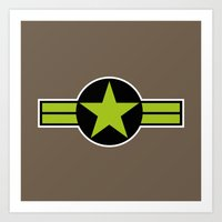 top gun Art Prints featuring Top Gun by FilmsQuiz