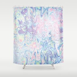 Holographic Abstract Texture #13 Shower Curtain