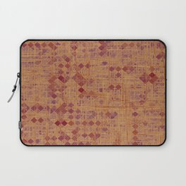 geometric square pixel pattern abstract in brown and pink Laptop Sleeve