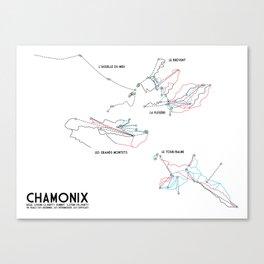 Chamonix, Haute-Savoie, FRA - European Edition (Labeled) - Minimalist Trail Art Canvas Print