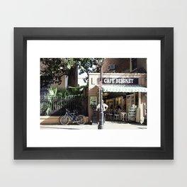 New Orleans Cafe Beignet Framed Art Print