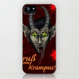 Red Krampuskarten iPhone Case