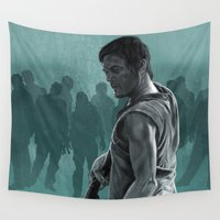 daryl Wall Tapestries featuring Daryl against the Undead by Richtoon
