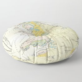 Vintage Map of the Coal Fields of Great Britain Floor Pillow