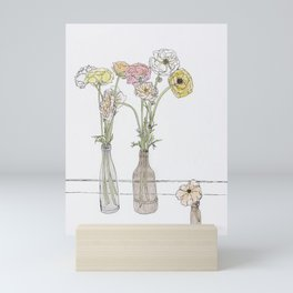Long-stem florals Mini Art Print
