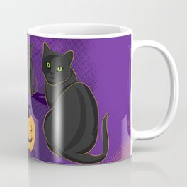 spooky halloween trick or treat Autumn night Coffee Mug