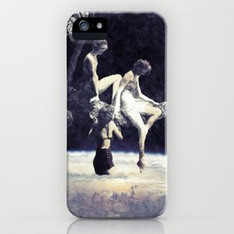 don't hesitate, it's nice up here iPhone Case
