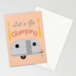 Let's Go Glamping Happy Camper Art Stationery Cards