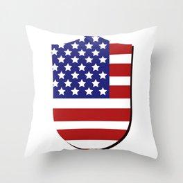 United States flag Throw Pillow