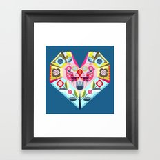 folk heart Framed Art Print