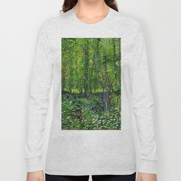Vincent Van Gogh Trees and Undergrowth 1887 Long Sleeve T-shirt