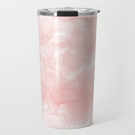 Blush Pink Smoke Abstract Travel Mug