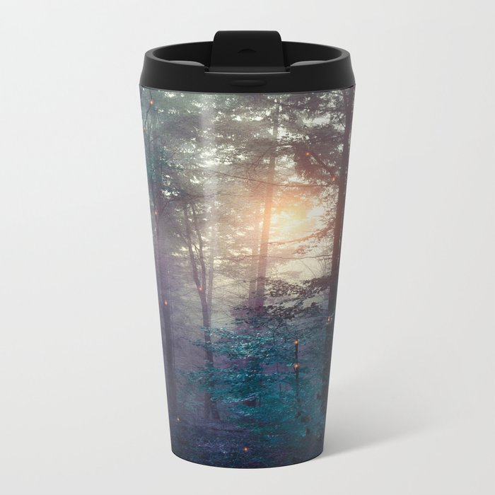 A walk in the forest Metal Travel Mug
