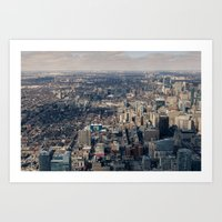 toronto Art Prints featuring Toronto by Nick De Clercq