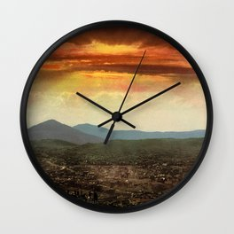 Sunset from Cripple Creek, Colorado, ca. 1899 Wall Clock