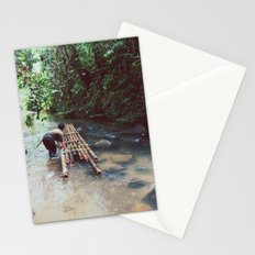 Borneo river rafting Stationery Cards