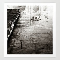Reflection of the Taj Mahal Art Print