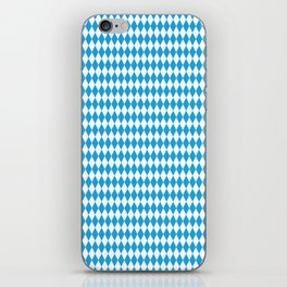 Oktoberfest Bavarian Blue and White Medium Diagonal Diamond Pattern iPhone Skin