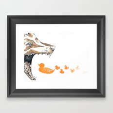 Fox vs. Duck Framed Art Print